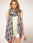 grey-asos pieces scarf